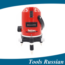 ship from Russia , 5 lines 6 points laser level 360 rotary cross laser line leveling with outdoor model , laserlevel