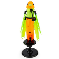 Flying Parrot RC Induction Helicopter With LED Flashing Light Children Toy With Birdcall For Kids Orange