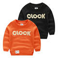 Letter sweatshirt 2015 children's autumn and winter clothing boys clothing fleece thickening o-neck pullover outerwear wt-4798