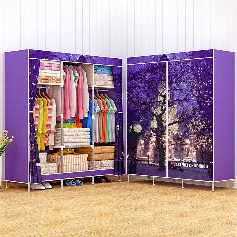 Современный минималистский моды свежий домашний Мебель для спальни нетканых материалов Портативный шкаф для хранения многофункциональны...