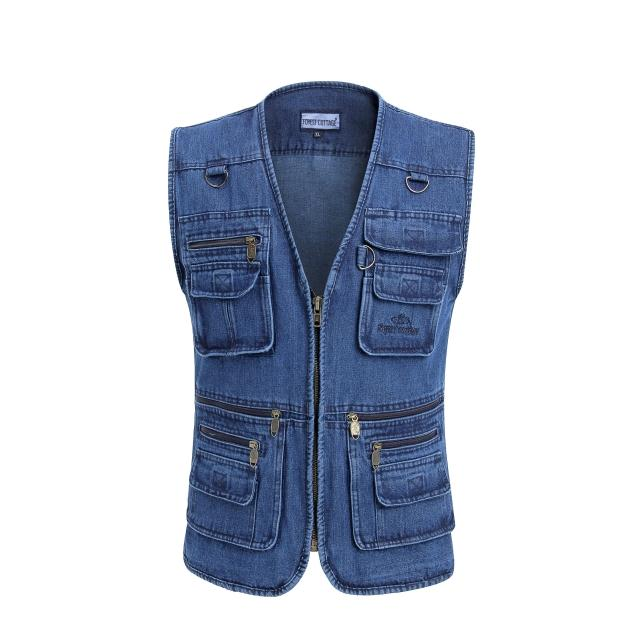 In The Autumn Of 2020 Men Leisure Cowboy Vest Pocket