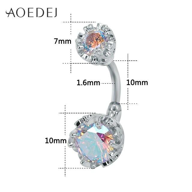 Купить aoedej пупка для пирсинга живота 10 мм цветок нержавеющая сталь