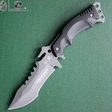 HX Outdoors Camping Knife Hunting Survival Karambit Kinves Tactical Fixed Saber Blade Pocket EDC Tools 440C Titanium Cold Steel