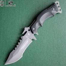HX Outdoors Camping Knife Hunting Survival Karambit Kinves Tactical Fixed Saber Blade Pocket EDC Tools 440C Titanium Cold Steel