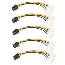 1 шт. 2 шт. 5 шт. 6Pin к двойной 4 Pin PCI-E PCI Express мощность видеокарты Соединительный Кабель-адаптер питание оптовая продажа