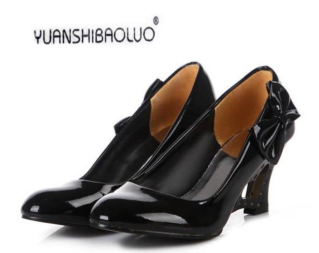 Más el Tamaño 35-43 Cuñas de Las Mujeres Zapatos de la Princesa Dulce Corazón Arco Mujeres Bombea Los Zapatos de Boda