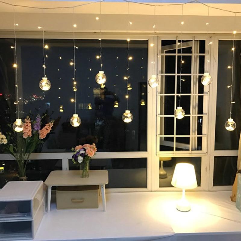 Led cortina icicle bola de hadas cadena deseando luces fiesta fiesta - Iluminación de vacaciones - foto 1