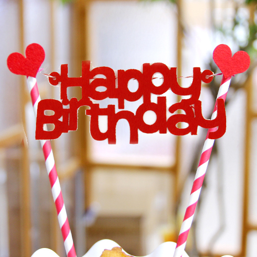 how to make happy birthday bunting cake topper
