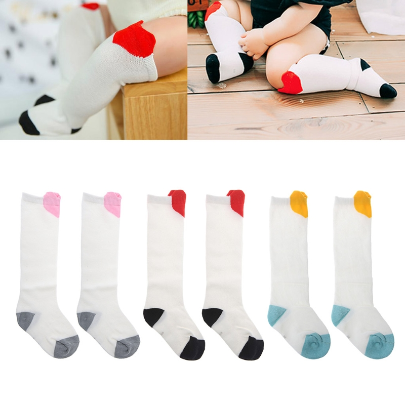 Fashion Heart Baby Socks Long Kids Children Girls Winter Warm Soft Blend Cotton