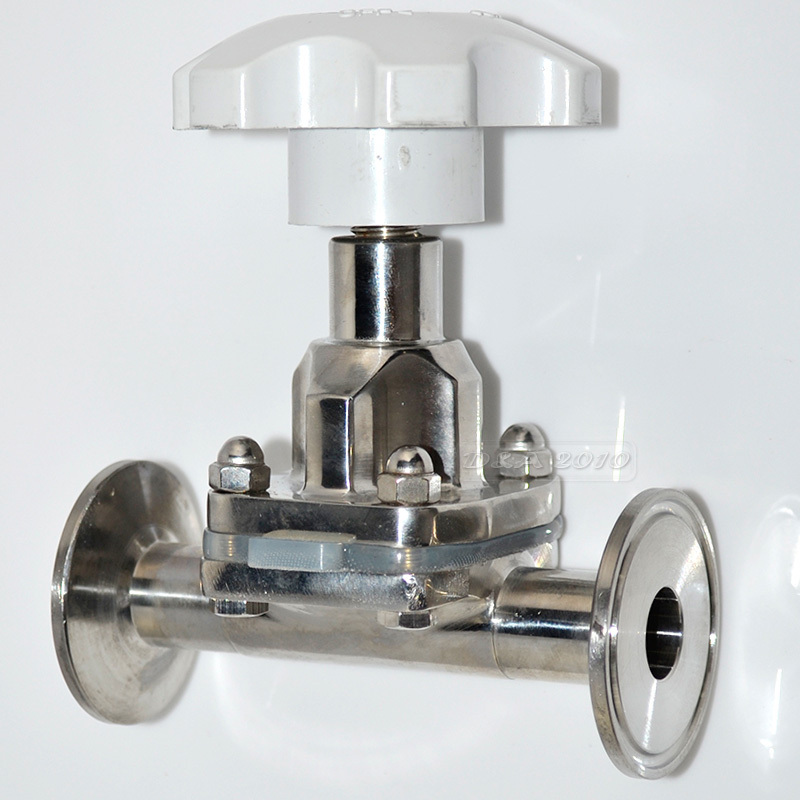MEGAIRON NEW style38MM 1-1/2 Sanitary Fitting Diaphragm Valve Clamp Type Stainless Steel SS SUS 316 high quality brand new 1 2 to 2 stainless steel sanitary quick install male threaded ferrule pipe fitting tri clamp type ss316