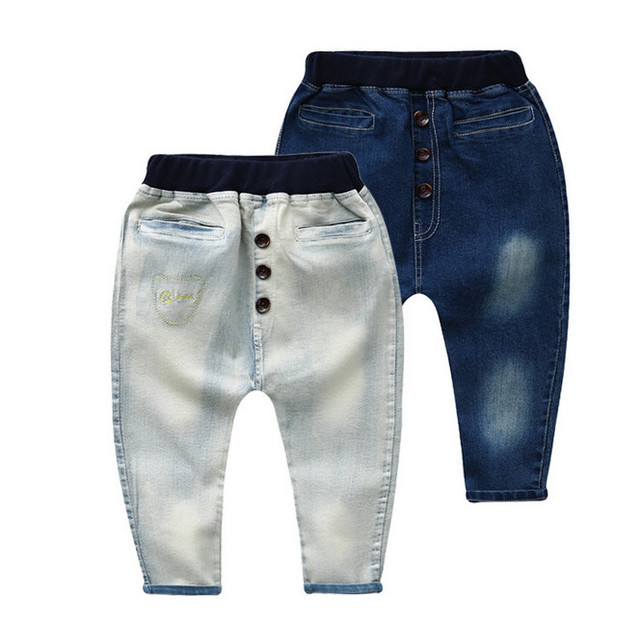 Retail High quality spring kids pants boys girls baby jeans children jeans for boys casual denim pants 3-7Y haren clothing