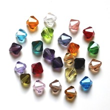 StreBelle AAA Multi colors 6mm Bicone shape beads 5301 crystal glass DIY Beads 100pcs