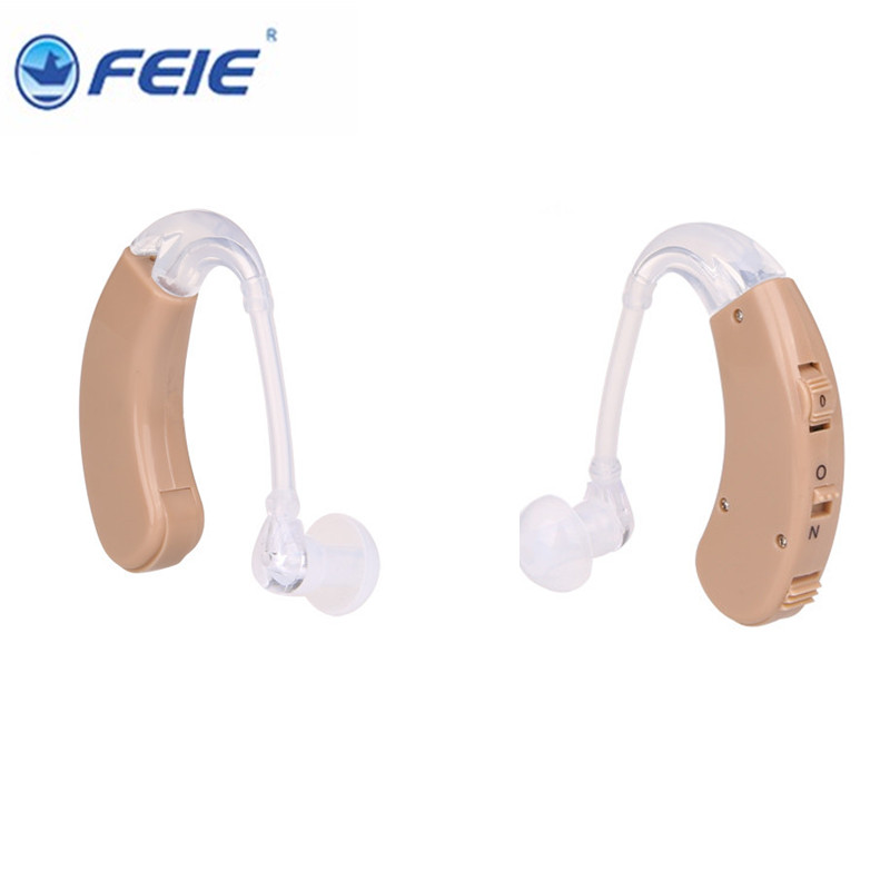 2 PCS Best Discount for Distributors Deaf Analog Hearing Aids behind the Ear S-998 production equipment for the small business wax for depilation 2pcs pocket super power hearing aids v 99 drop shipping