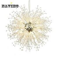 Современный Одуванчик Кристалл люстры освещение для спальня кухня обеденная подвесной светильник