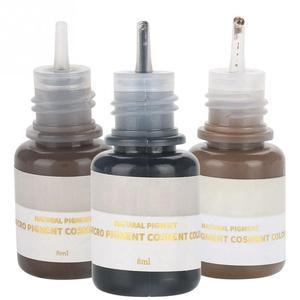 Image 5 - 1 шт. 8 мл микроблейдинговые пигментные чернила для татуировок аксессуары для 3d вышивки полуперманентный макияж для бровей губ подводка для глаз набор для татуировок