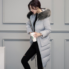 NEW winter jacket women long thick 90% Down cotton down jacket women 2017 solid slim keep warm down coat 5 colors 1000 stocks