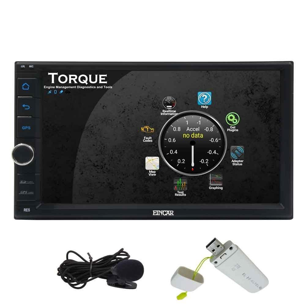 US $239 99 |4G Dongle+EinCar 7'' Android 6 0 Car Stereo Double Din  Bluetooth Headunit Support Mirror link WiFi USB SD External Microphone-in  Car