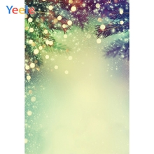 Yeele Wallpaper Cyan-blue Bokeh Glitter Light Decor Photography Backdrops Personalized Photographic Backgrounds For Photo Studio