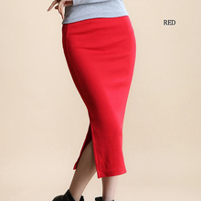 Sexy High Waist Maxi Solid Color Cotton Skirts for Shemale & Crossdressers