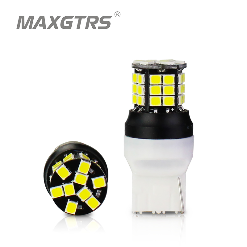 2x Super Bright Low Power T20 7440 W21W 2835 LED Bulbs Replacement for Back Up Reverse Brake Tail Lights Xenon White Amber