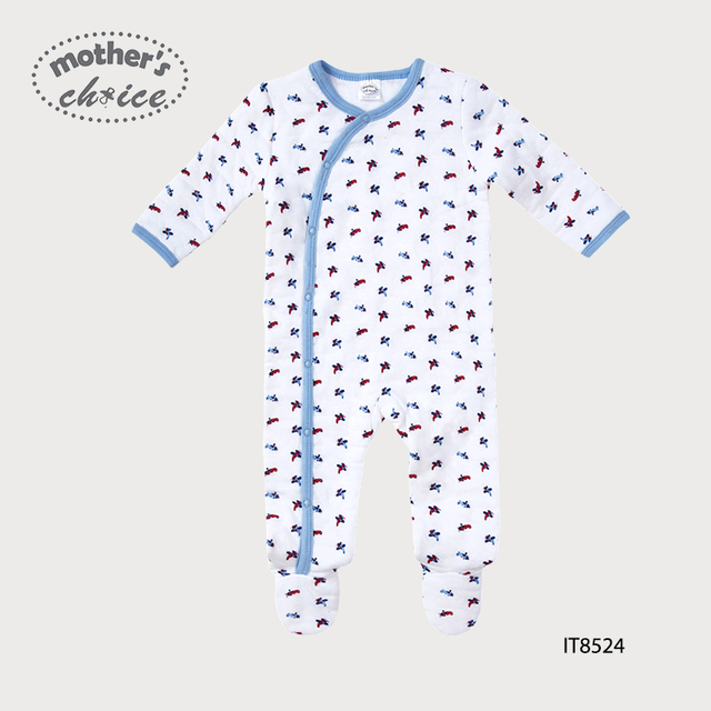 Mother's Choice 100% cotton winter thickening Baby footies NB to 9M high quality baby winter clothes Free shipping