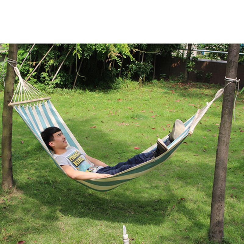 Extended color canvas hammock field camping outdoor recreational swing chair rocking bedroom furniture hanging tent in Outdoor Tools from Sports Entertainment