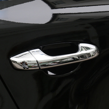 For Kia Sportage QL KX5 2016 2017 2018 ABS Chrome Car Door Handle Protection Cover trim Sticker car accessories styling 8pcs for mitsubishi outlander 2016 2017 2018 car body cover protect detector sticks frame lamp trim abs chrome car door handle 8pcs