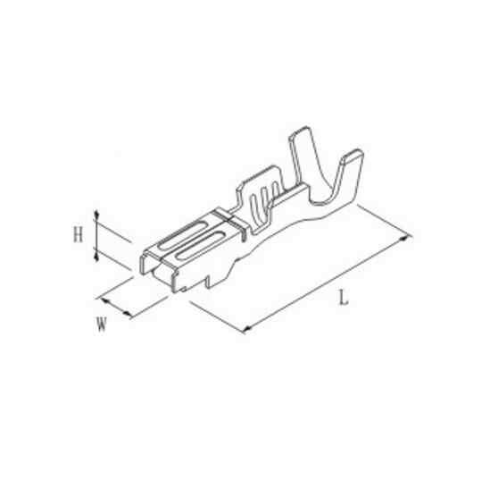 200/500/1000 шт./лот 2,3 мм обжимные клеммы (шпильки) для коннектор furukawa, замена RFW-F-050/RFW-F-125