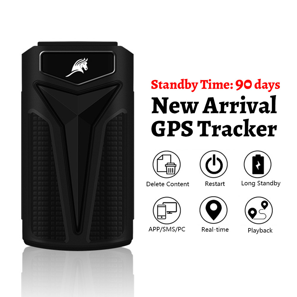 New Arrival Car GPS Tracker with 90 Days Standby Time 5000mAh SMS Real Time Tracking GPS Locator Vehicle Tracker IOS/Android APP image