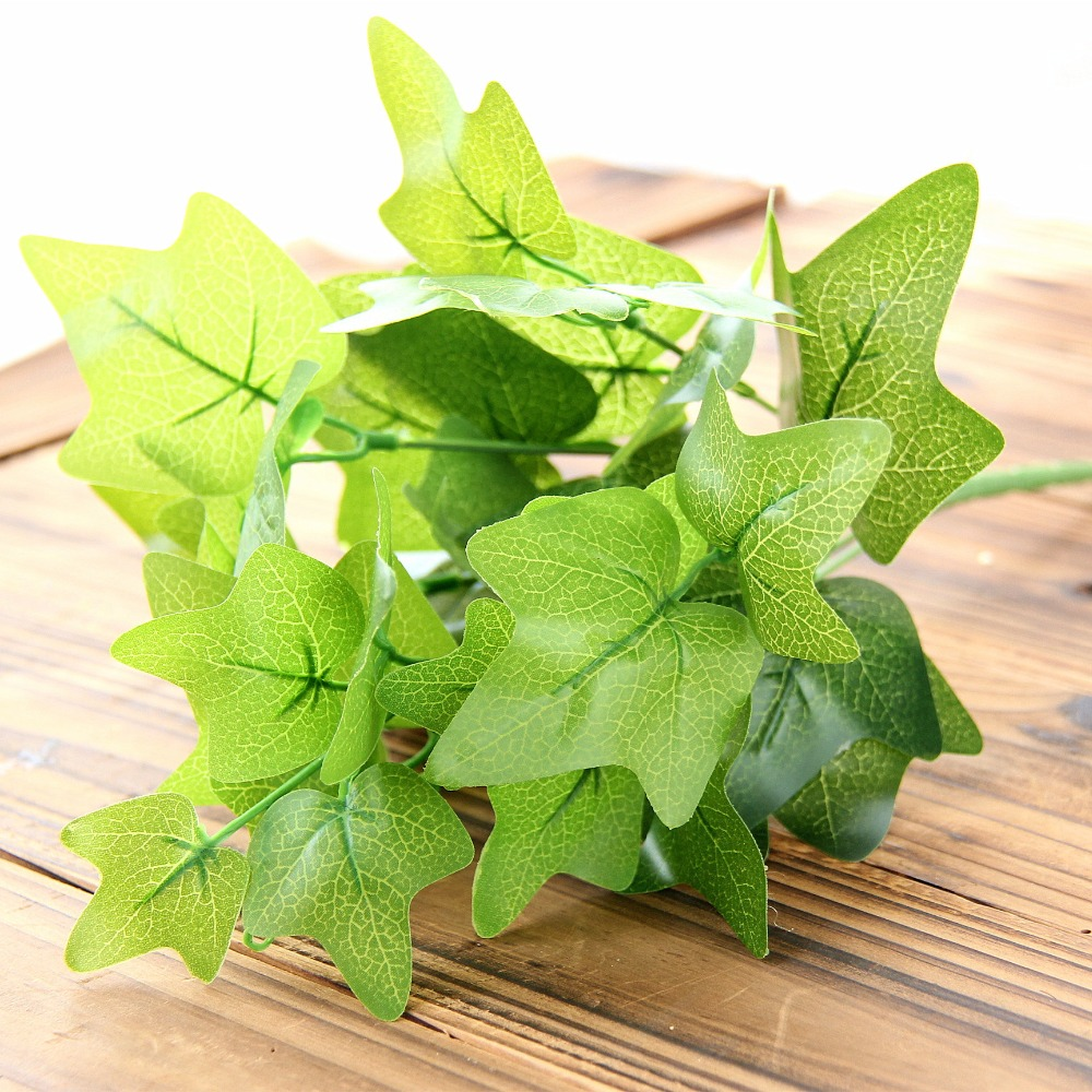 Lifelike artificial sweet potato leaves imitation fern for Faux grass for crafts