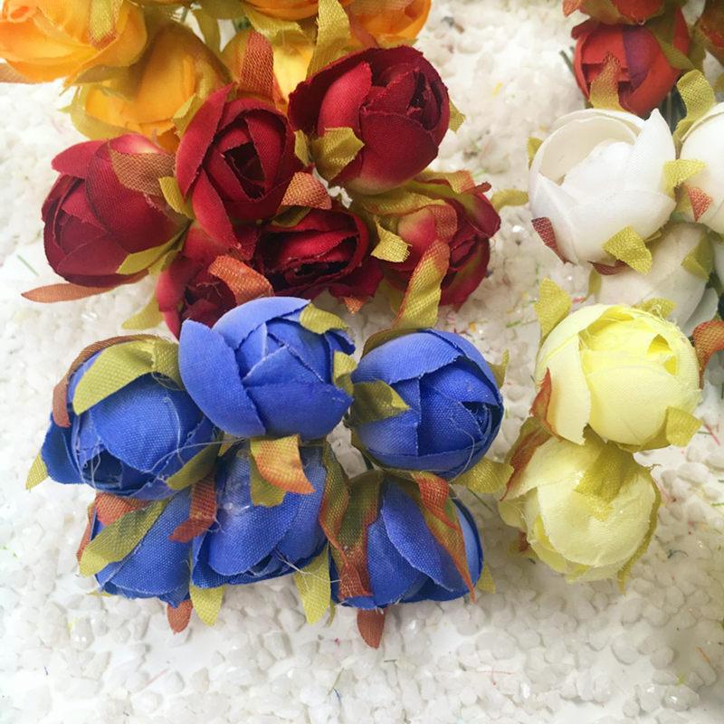 6 STKS / kunstzijde boeketten van rozen kleine knoppen bruiloft - Feestversiering en feestartikelen - Foto 2