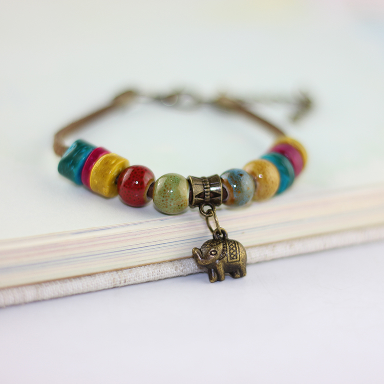Fashion Bohemia Jewelry Charm Vintage Handmade Colorful Beaded Bracelets Women Autumn Style