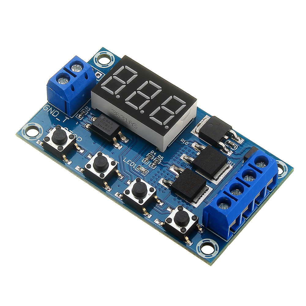 Relay Module DC 5V--36V Trigger Cycle Time Delay Switch Circuit  Double MOS Tube Control Board NEW