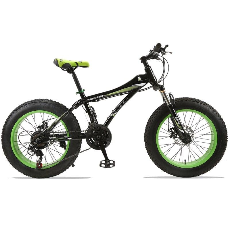 Горный велосипед 21 скорость 2,0 X 4,0 дорожный велосипед жира велосипед спереди и сзади механические дисковые тормоза для женщин и детей Spr