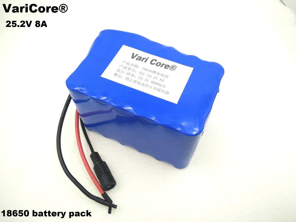 VariCore 24V 8Ah 6S4P 18650 Battery li-ion battery 25.2v 8000mAh electric bicycle moped /electric/lithium ion battery pack стоимость