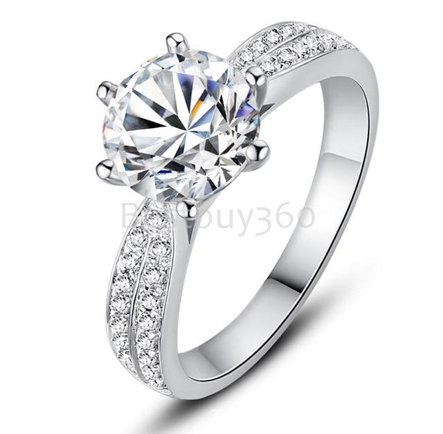 silver ring diamant