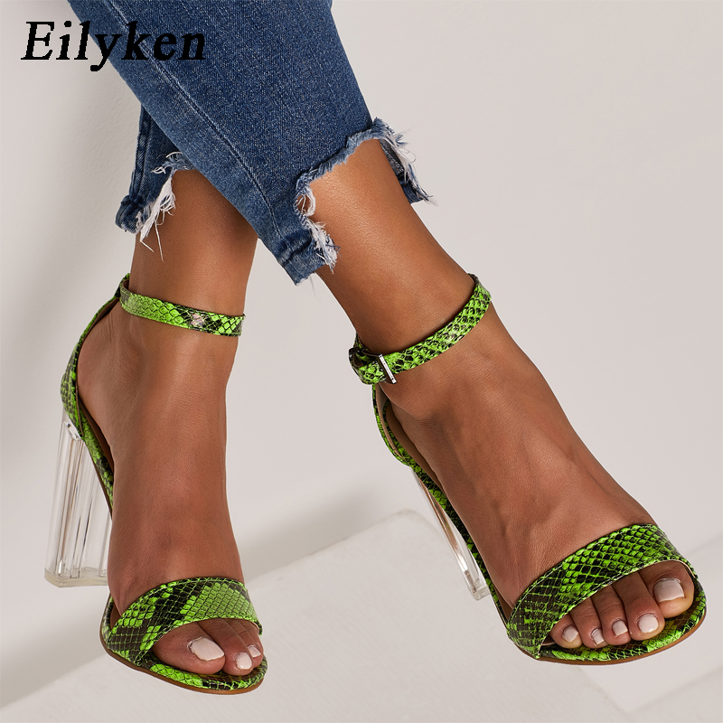Eilyken 2019 Sandals Fashion Snakelike Womens Sandals Open Toe Ankle Strap Buckle Shoes Transparent High Heels Sandals Eilyken 2019 Sandals Fashion Snakelike Womens Sandals Open Toe Ankle Strap Buckle Shoes Transparent High Heels Sandals