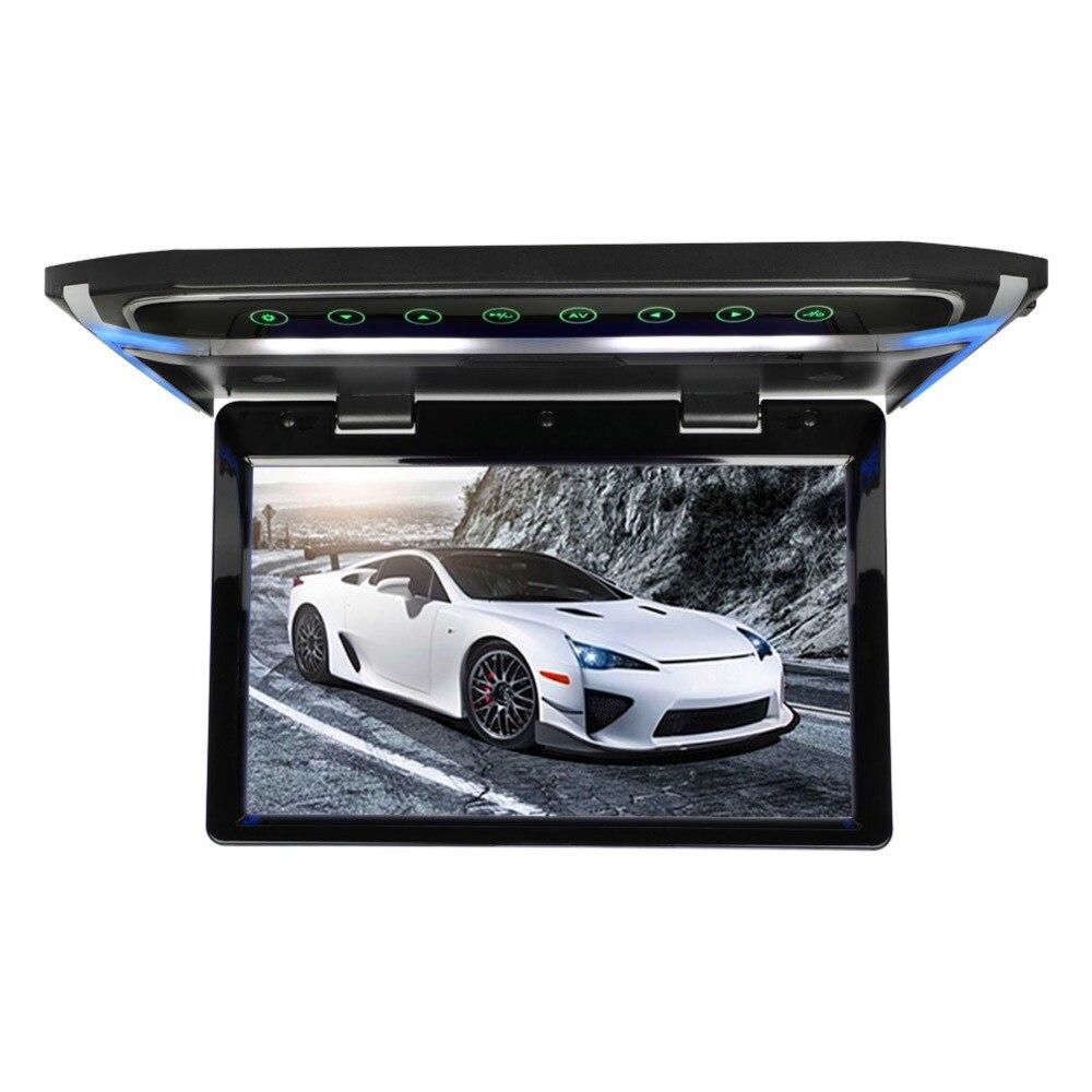 Потолочный монитор на крыше, 10 дюймов, 1080 P, ЖК дисплей, TFT экран, Автомобильный потолочный монитор, откидывающийся на крышу, монтируемый светодиодный дисплей, цифровой Широкоэкранный монитор - 3