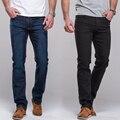 Мужские Джинсы прямые fit классические джинсовые Джинсы Брюки известный бренд брюки синий черный повседневная длинные брюки джинсы