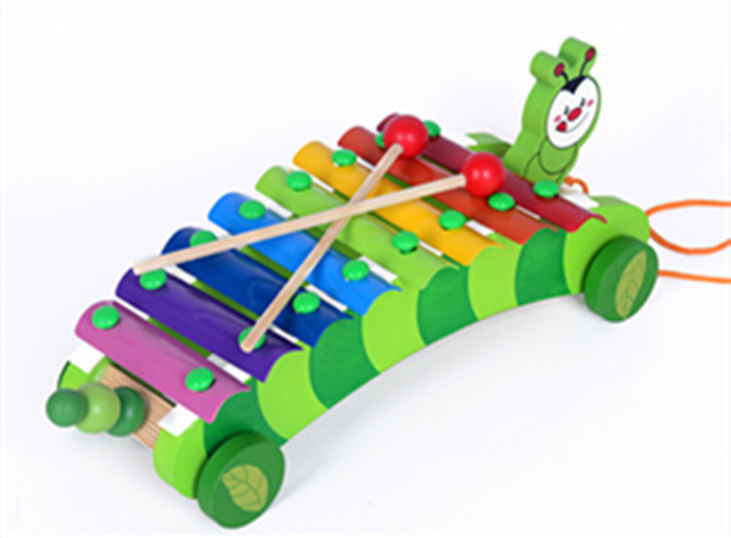 New Wooden Baby Toys Tow Truck Playing Piano Child Puzzle Toy Baby Educational Toys