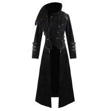 Мужское пальто, готическое черное Мужское пальто, длинный рукав, Casaco, Ретро стиль, Мужской плащ, вечерние, с капюшоном, длинная куртка, пальто, Мужской плащ