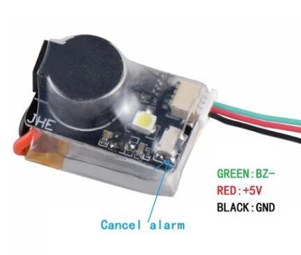 Buscador JHE42B JHE42B_S 5 V Super ruidoso Buzzer Tracker 110dB con LED zumbador para FPV Racing Drone controlador de vuelo