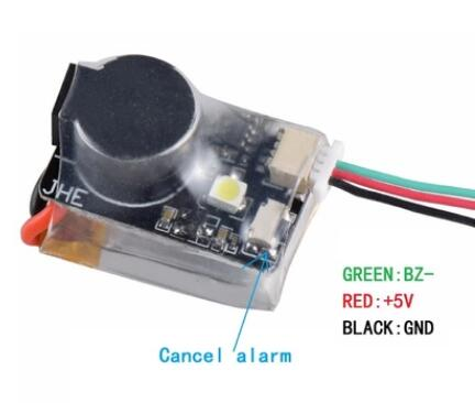 Finder JHE42B JHE42B_S JHE20B 5V Super Loud Buzzer Tracker 110dB with LED Buzzer Alarm For FPV Racing Drone Flight Controller