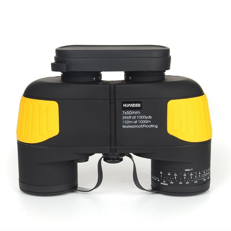 HUANDEE 7X50 HD Marine Binoculars Zoom Rangefinder Telescopes Eyepiece Waterproof Nitrogen Army Binocular telescope HBT002 стоимость