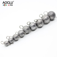 AOCLU Bared No painting jig head lead sinker weights shots with lock pin 10pcs/lot from 2g to 21g for soft lure jigging bared blade