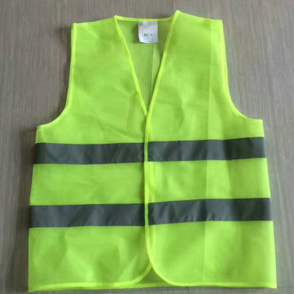 XL XXL XXXL Reflective Fluorescent Vest Yellow Orange Color Outdoor Safety Clothing Running Ventilate Safe High Visibility fluorescence yellow high visibility