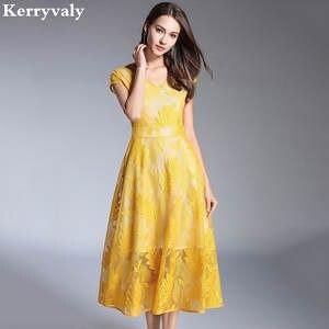 Summer Beach Lace Dress Vestidos Women Midi Party Dress e6e02555fda