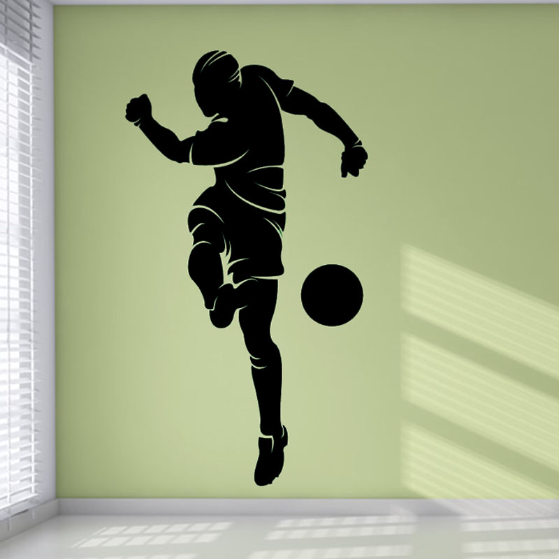 Cheapest Bedroom Decorative Football Wall Murals Removable PVC Sport ...