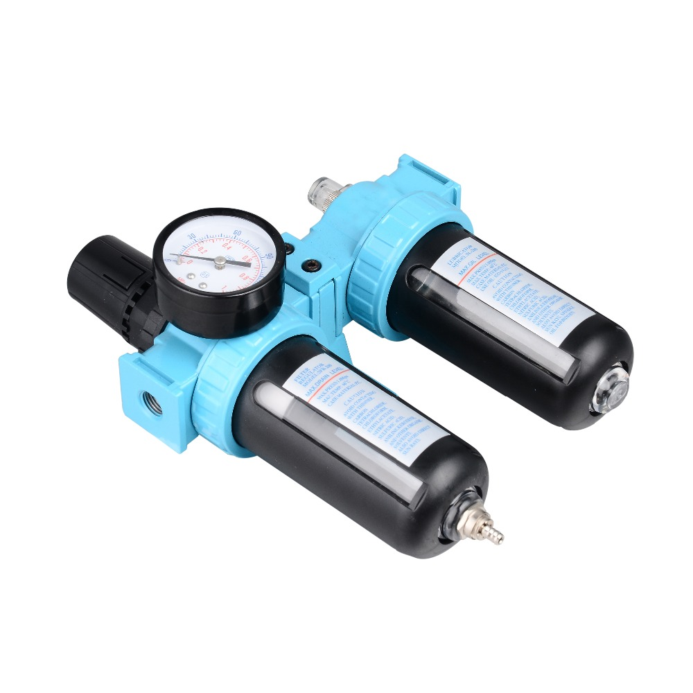 Air Compressor oil Water Separator Regulator Trap Filter Airbrush Two Union Treatment ophir pressure gauge airbrush filter air pressure regulator oil water separator trap filter airbrush compressor kit ac010