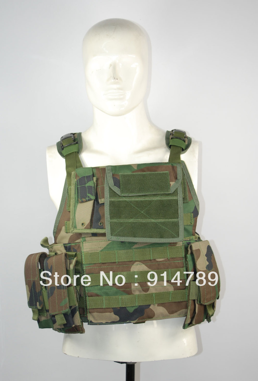 LIGHT-DUTY LOAD TACTICAL VEST WOODLAND CAMO-32680